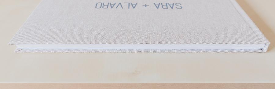 Fotografías de los álbumes de boda impresión offseten lino